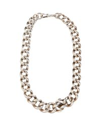 Olivia Collings - Metallic Silver Very Heavy Curb Link Chain Necklace - Lyst