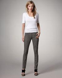 PAIGE | Multicolor Leopard-Print Legging Jeans | Lyst