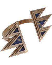 Pamela Love | Metallic Bronze Lapis Mountain Cuff | Lyst