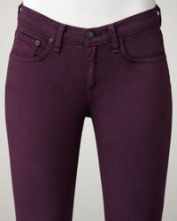 Rag & Bone - Purple The Skinny Plum Jeans - Lyst