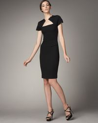 Roland Mouret - Black Myrtha Wool-crepe Dress - Lyst