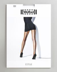 Wolford - Black Estelle Fishnet Tights - Lyst