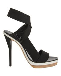 3.1 Phillip Lim Black Kiara Elastic Strap Heels