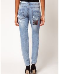 ASOS | Blue Jean with Rocco Stitch | Lyst