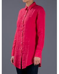 Fred Perry Red Linen Shirt