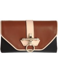 Givenchy - Brown Colorblock Obsedia Clutch - Lyst