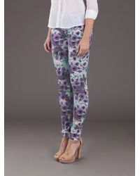 Joe's Jeans Multicolor Floral Print Skinny Jean