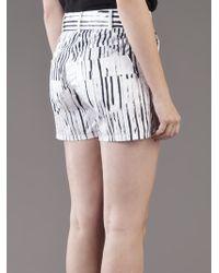Kelly Wearstler White Sateen Nopales Short