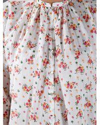 Péro Multicolor Blusa Floral Print Blouse