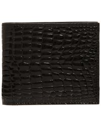 Valextra Black Alligator Wallet