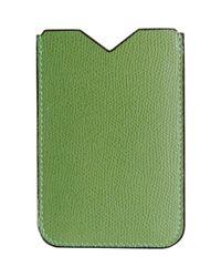 Valextra Green Iphone Sleeve