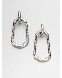 Giles & Brother Metallic Cortina Snake Chain Drop Earrings