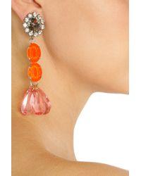 Marni - Metallic Crystal Drop Earrings - Lyst