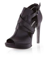 Vera Wang Lavender | Black Rex Cutoutside Sandal | Lyst