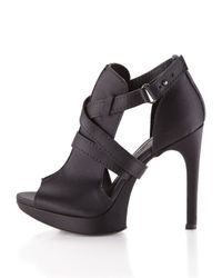 Vera Wang Lavender - Black Rex Cutoutside Sandal - Lyst