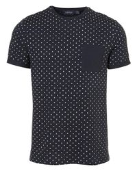 d3e45ebe4696 TOPMAN Spotty Pocket T-shirt in Blue for Men - Lyst