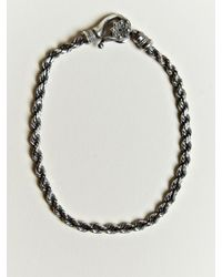Nonnative | Metallic Nonnative Mens Twist Link Bracelet for Men | Lyst
