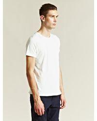 Nonnative White Crew Neck Pocket T-shirt for men