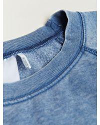 Rxmance Blue Short Sleeve Sweatshirt for men