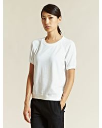 Rxmance White Rxmance Womens Short Sleeve Sweatshirt