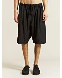 Unused Black Silk Blend Shorts for men