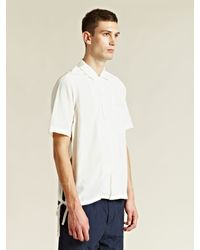 Unused White Silk and Cotton Shirt for men