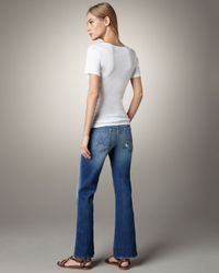 7 For All Mankind | Blue Josefina Boyfriend Jeans | Lyst