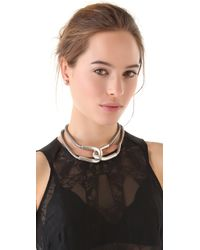 Giles & Brother - Metallic Cortina Snake Chain Necklace - Lyst
