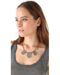 House of Harlow 1960 | Metallic Engraved Five Station Necklace | Lyst