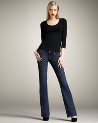 PAIGE - Blue Laurel Canyon Venom Boot-cut Jeans - Lyst