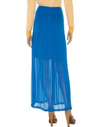 Catherine Malandrino Blue Pleated Chiffon Maxi Skirt