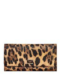 Dolce & Gabbana | Animal Leopard Print Pvc Wallet | Lyst