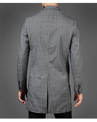 John Varvatos Gray Cold Dye Three Quarter Length Jacket for men