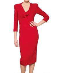 Alexander McQueen Textured Silk Cady Dress