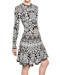 Alexander McQueen | White Bicolour Flower Jacquard Dress | Lyst