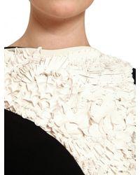 Antonio Berardi | Black Embroidered Rayon Cady Long Dress | Lyst