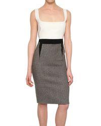 Antonio Berardi | Gray Harris Tweed Wool Dress | Lyst