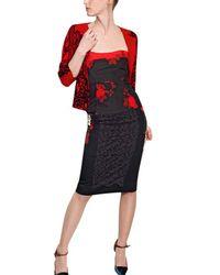 Antonio Marras Red Printed Cotton Viscose Ottoman Top