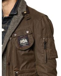 DSquared² | Green Mixed Triple Layer Long Boobou Jacket for Men | Lyst