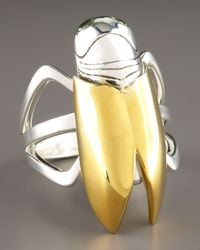 Elizabeth and James Metallic Garden Cicada Ring