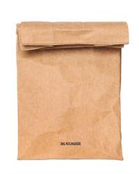 Jil Sander Natural Paper Clutch Bag for men