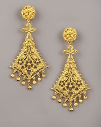Jose & Maria Barrera | Metallic Gold Kite-chandelier Earrings | Lyst