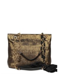 Lanvin - Metallic Happy 10 Years Canvas Shoulder Bag - Lyst
