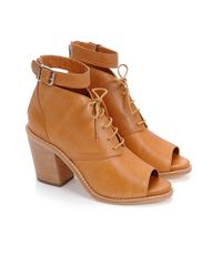 Loeffler Randall | Brown Lace-Up Bootie | Lyst
