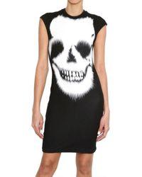 McQ Black Skull Print Jersey Dress