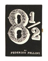 Olympia Le-Tan Black 8 12 Fellini Book Clutch