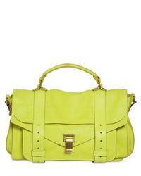Proenza Schouler - Green Ps1 Medium Lux Leather Satchel - Lyst