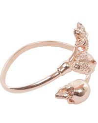 Alexander McQueen | Pink Gold Skull and Claw Bangle | Lyst