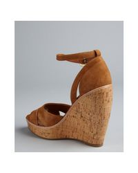 Dolce Vita | Brown Tan Suede Ankle Strap Paiva Wedges | Lyst