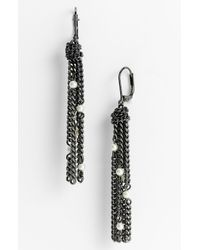 Givenchy | Metallic Station Pearl Tassel Earrings | Lyst
